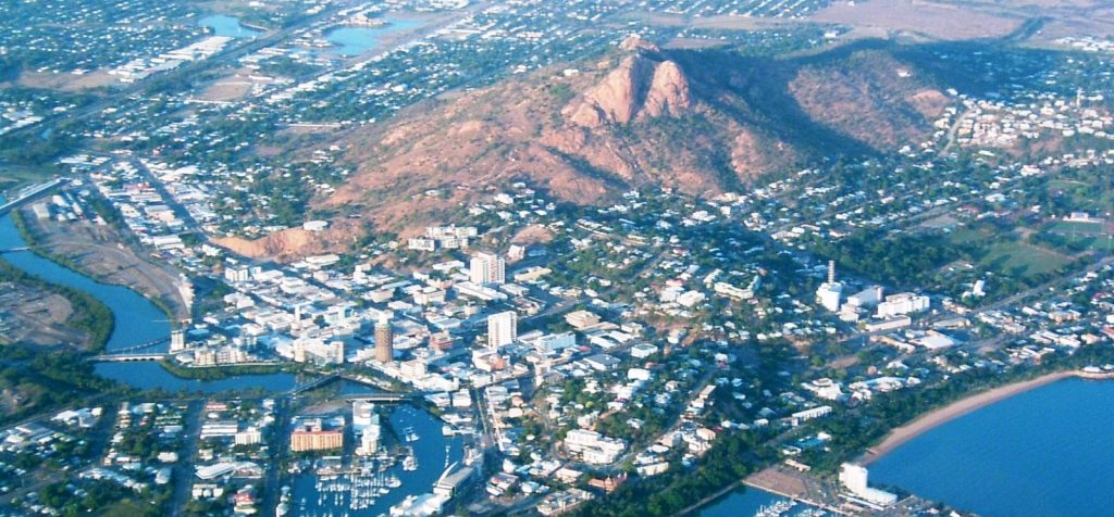 Aerial view of Castle Hill Townsville